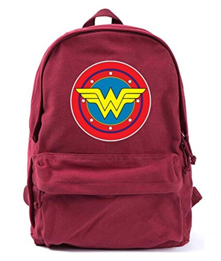 Wonder Woman Classic Logo Vintage Canvas Backpack Rucksack Casual Daypacks Bookbags - Brought to you by Avarsha.com