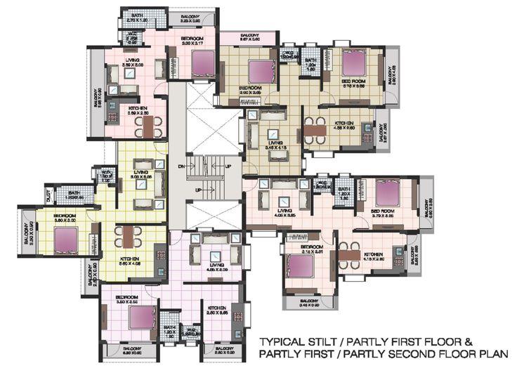 apartment structures   Apartment floor plans of shri krishna residency kankavali Apartment ...