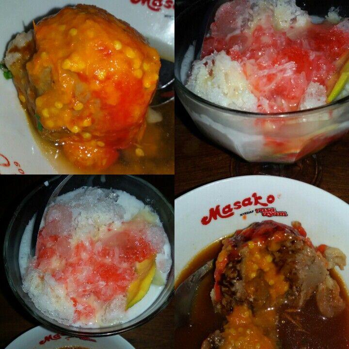 bakso + sup buah genteng