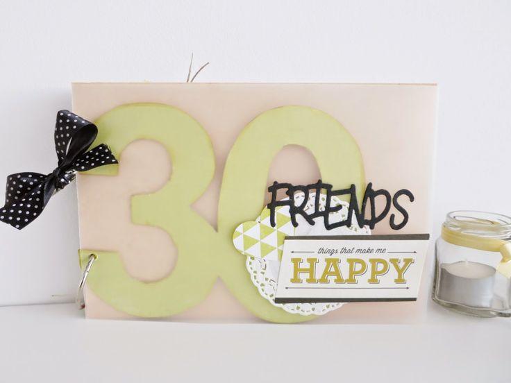 LA CAIXA DE SCRAP: Mini álbum 30 cumpleaños para DELIA