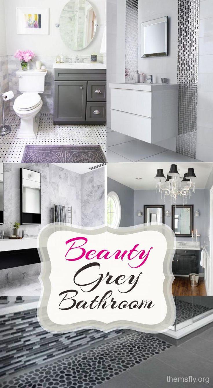 How to Decor Small Bathroom with Grey Colors? | Small Grey Bathroom Ideas