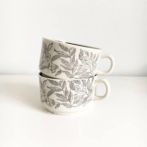 Vintage Gefle Sweden big tea cup named Fontana