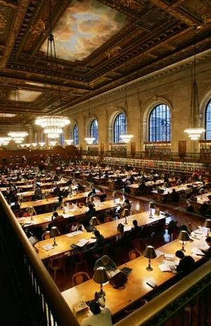 I have never been able to convince anyone to go here with me.  One day, I will spend an entire day at the NY Public Library.  Or maybe a whole trip there.  How beautiful is this?