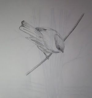 Studio at the Farm: It's Been a While ... Chickadee - Work in Progress...