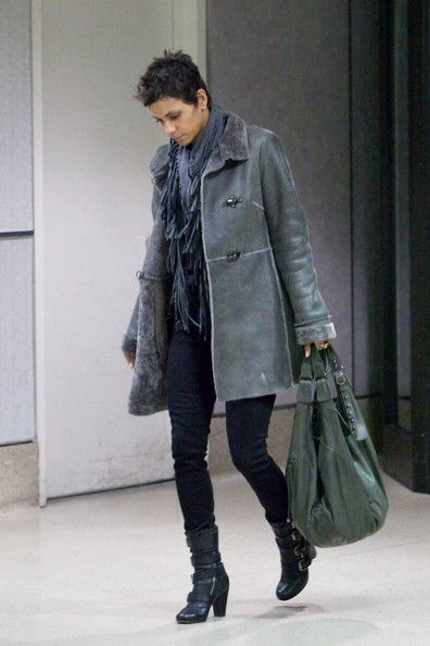 Halle Berry Bag and Boots
