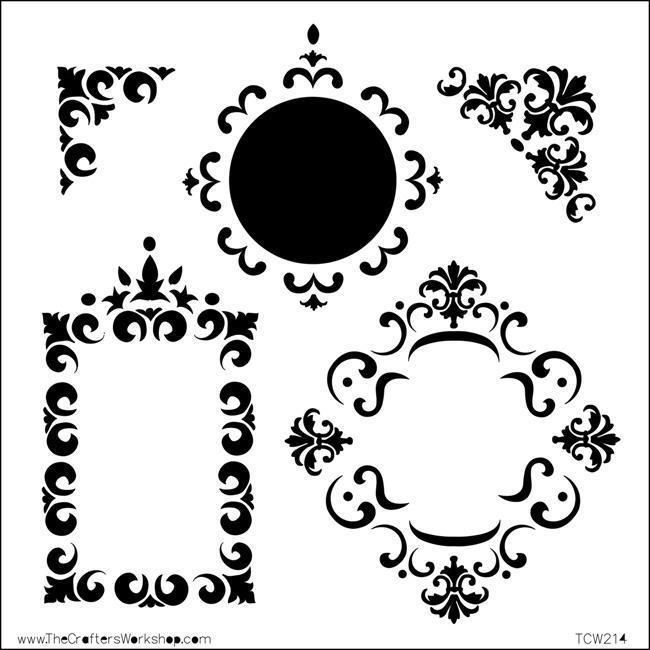 Crafter's Workshop Fancy Frames Template