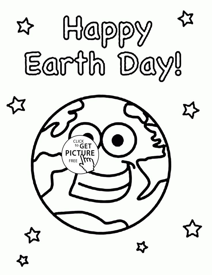 Very Happy Earth Day coloring page for kids, coloring