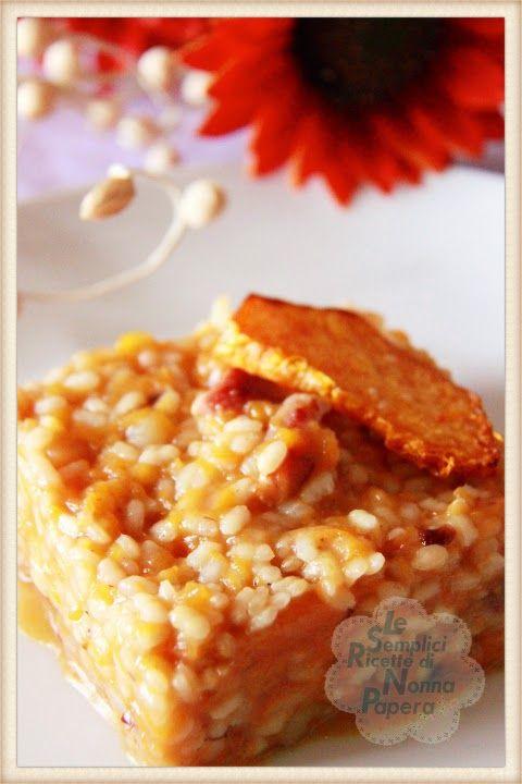 Le semplici ricette di Nonna Papera: RISOTTO ALLA ZUCCA