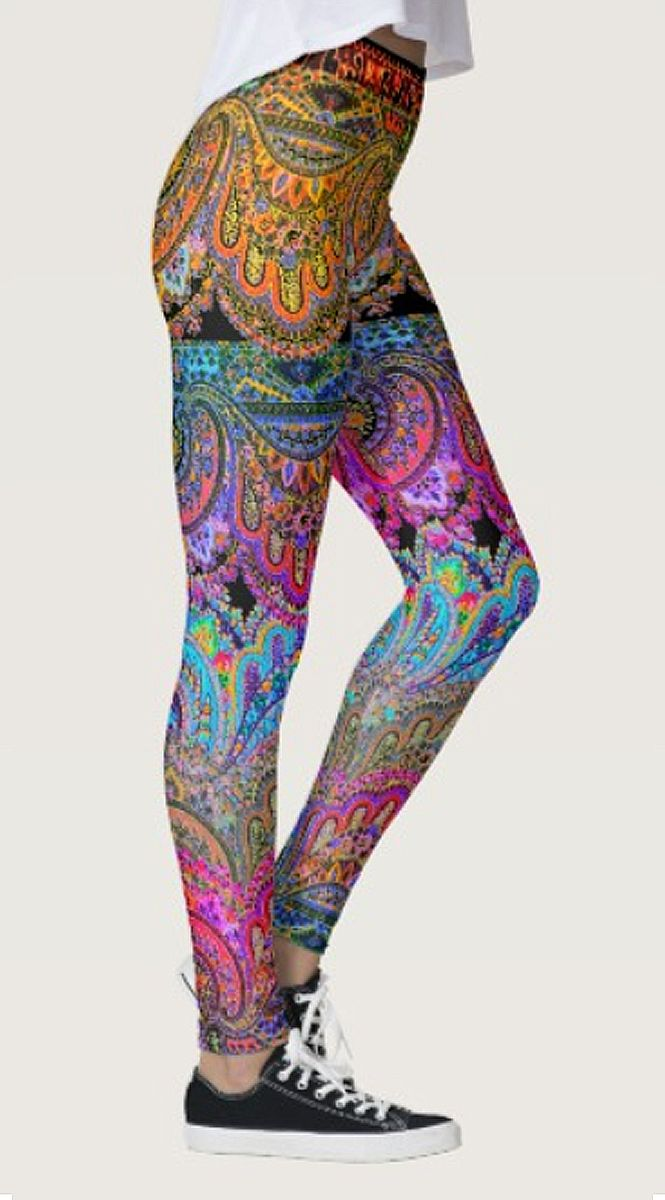 Boho Caravan Leggings by NDGRags on Zazzle. Customizable in your choice of background color. Sweet.