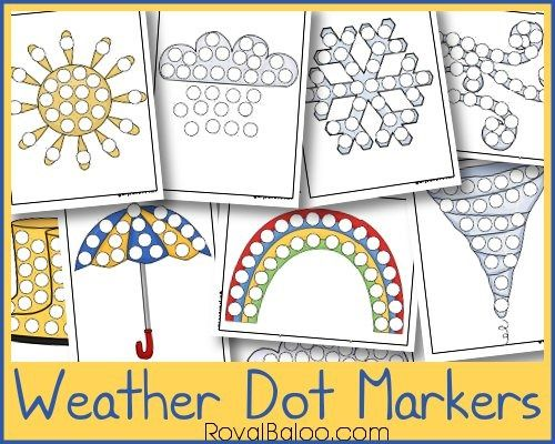 Weather Dot Marker Pages