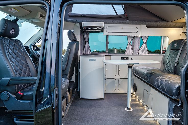 New T Campervan interior Deep Black from Autohaus VW Campervan Pinterest