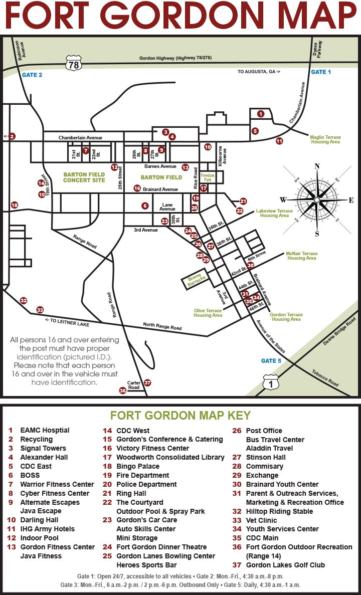 Fort Gordon GA Map !   Fort Gordon, Georgia   Us military ...