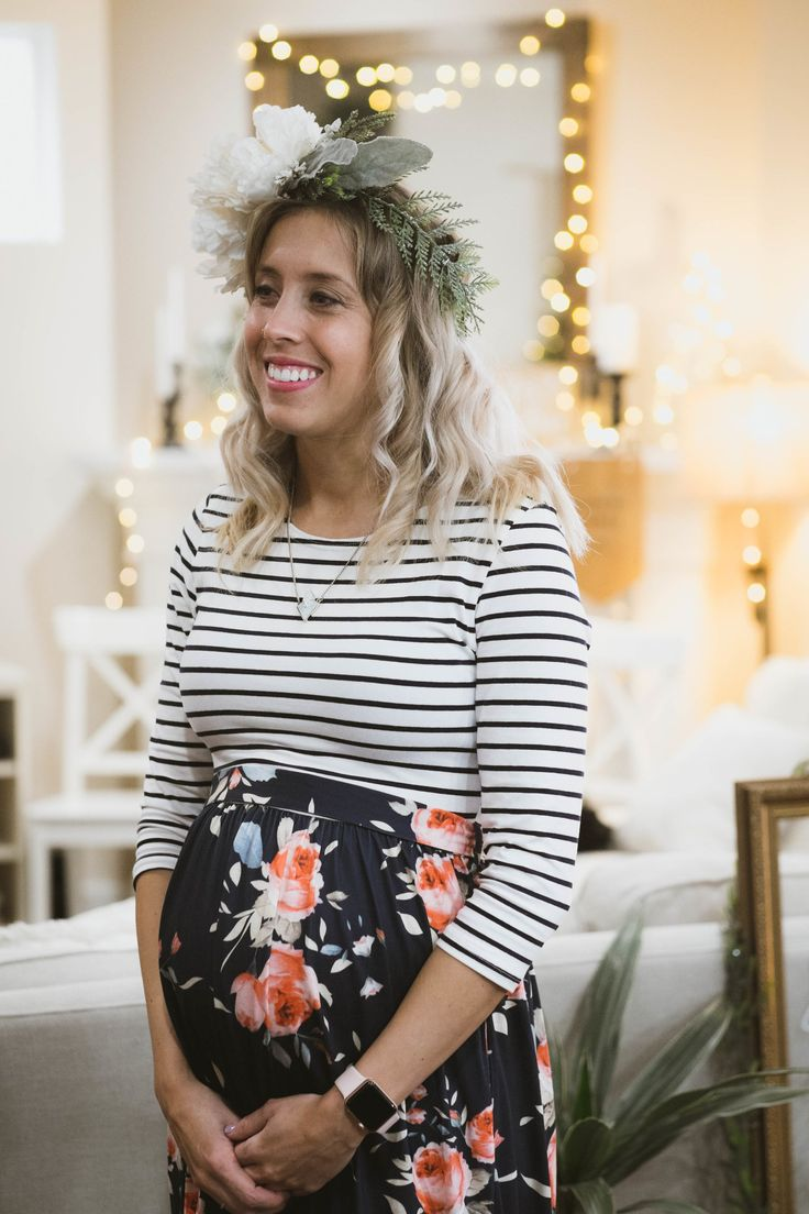 Baby Shower Outfit, Bump Fashion, Maternity Fashion, Maternity Dress,  Floral Maternity Maxi