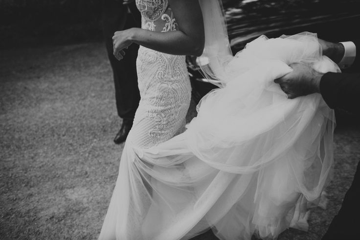 Liv's Pallas Couture gown.  Celebrant: Sally Hughes Image: Beck Rocchi Photography