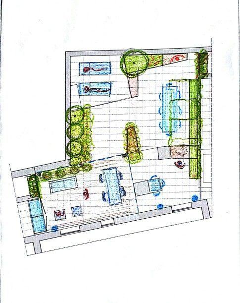Terrazza in brianza: First sketches
