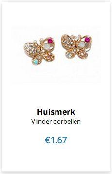 Vlinder Oorbellen www.ovstore.nl/nl/meer-categorieen/sieraden