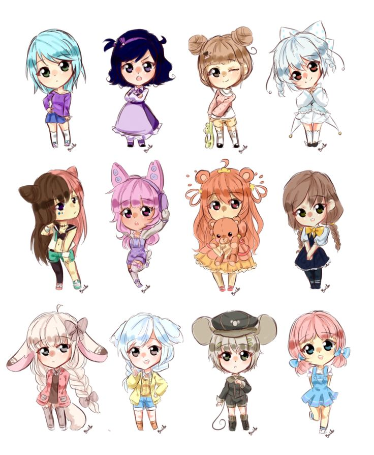 Chibi Girl Sketch Requests By Bunnilu D8pywpr Png Png