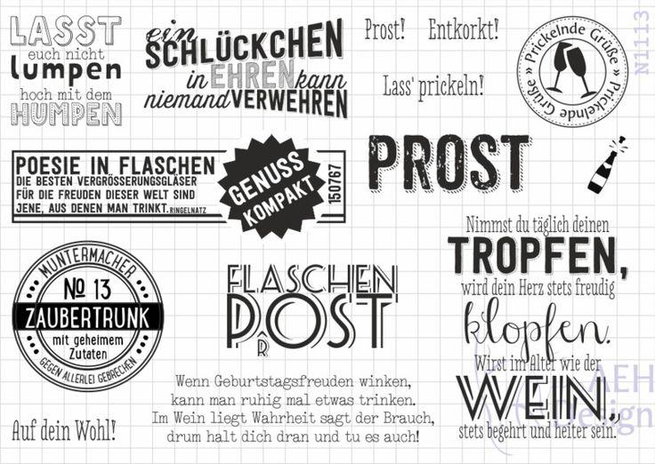 Stempelplatte AUF EIN SCHLÜCKCHEN von AEH-Design auf DaWanda.com
