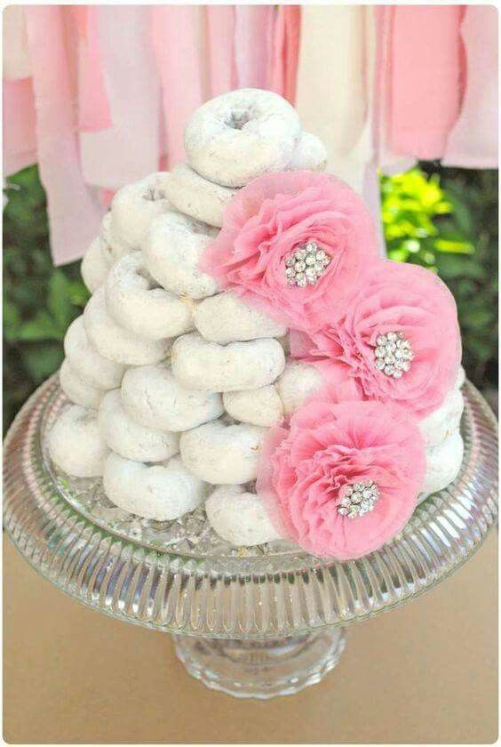 Candy Bar baby Shower donuts cake
