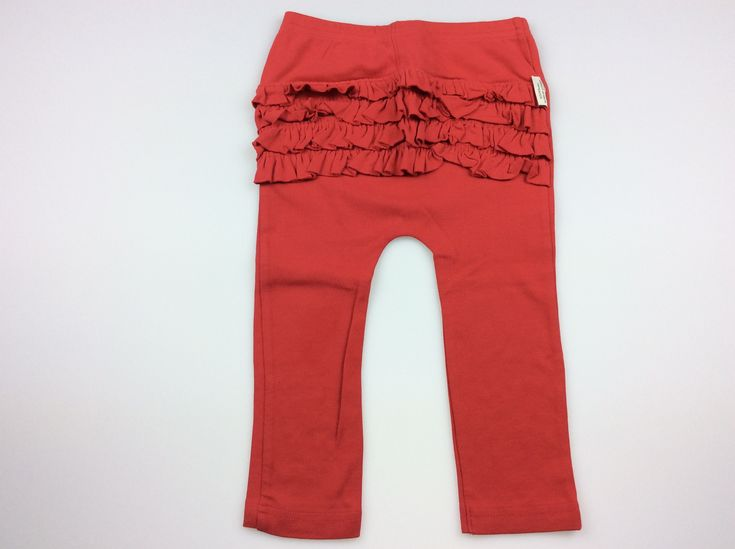 SOOKI Baby, red ruffle-bum leggings, excellent pre-loved condition (EUC,) girl's size 1, $8 #babyfashion #kidsfashion # #sookibaby #girlsfashion