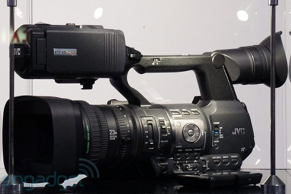 Just when I was lamenting the fact that you couldn't beam high quality images and videos from high end cameras through the internet, JVC comes out with the JVC GY-HM650. Any ol' hot spot gets your footage beamed back to the studio. Goodbye satellite trucks, hello Starbucks free wifi!