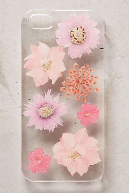 Pressed Larkspur Iphone 5 Case