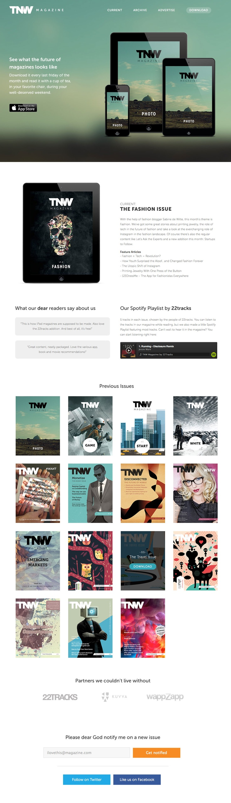 Simple flat buttons. Strong grid usage to create clean and easily adaptable/responsive content area.