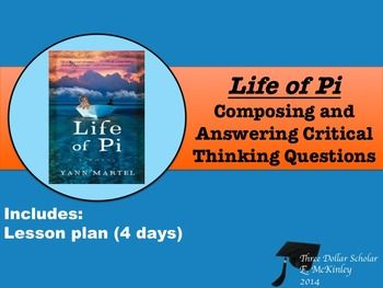Life of Pi Inquiry Assignment:  Creating Critical Thinking