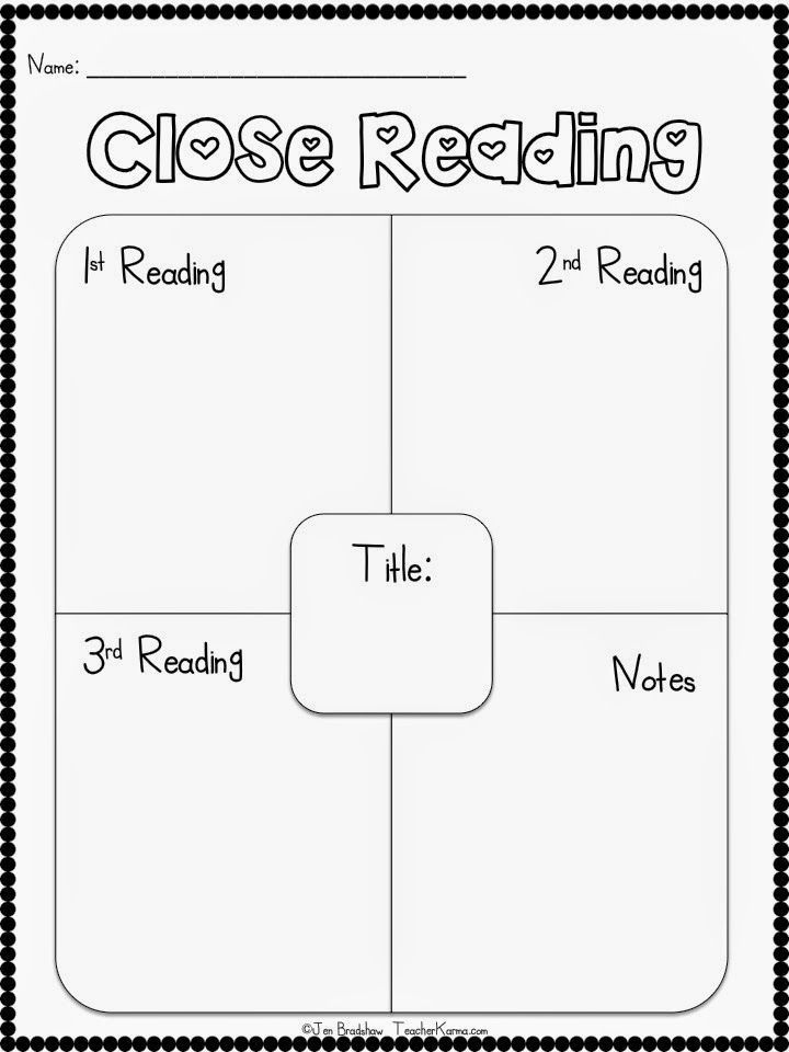 FREE:  CLOSE Reading strategy and graphic organizer for the elementary reading classroom.  http://TeacherKarma.com