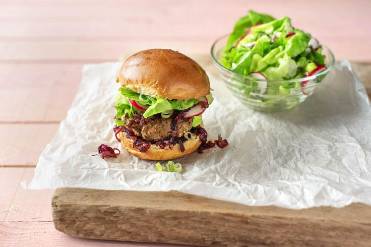 Minted Lamb & Fetta Burger