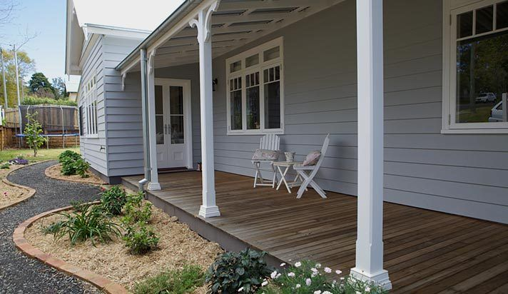 Strongbuild - weatherboard, posts, windows and French doors