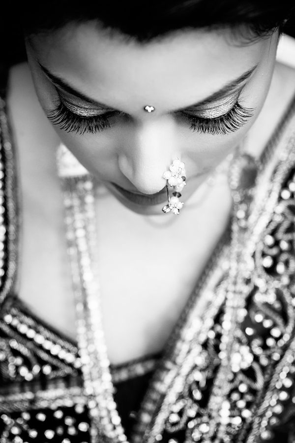 Love this! Stunning photo of the bride at South Asian wedding by Studio Uma | junebugweddings.com