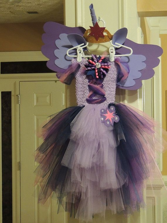 My Little Pony Twilight Sparkle Inspired Tutu with Ears, horn, crown, and wings for Evelyn Arzola