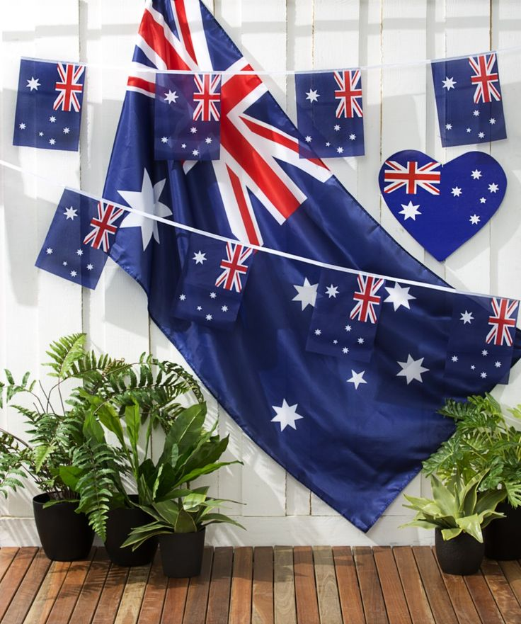 Get into the Australia Day spirit with these Aussie buntings, cardboard hearts and of course the flag. Starting from $2.50 from The Reject Shop #getsavvy