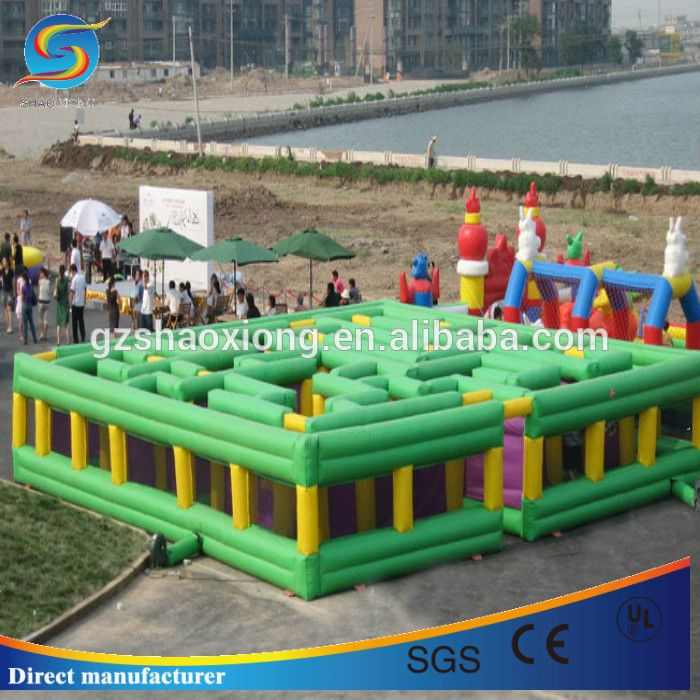 """Cheap crazy inflatable maze,rental giant adult inflatable maze for party game"""