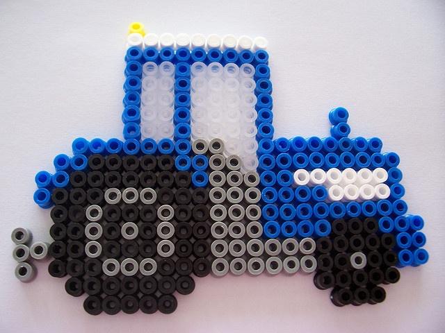 Little Blue Tractor by Shazann, via Flickr