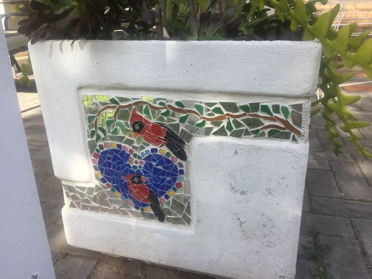 another mosaic planter of mine
