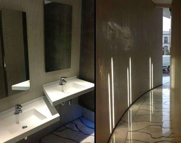Baños recepción en Krion