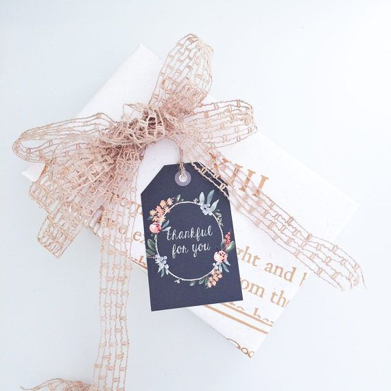 Thanksgiving Tags - Perfect for place settings or a hostess gift!  4 pack for $6.50 CAD.