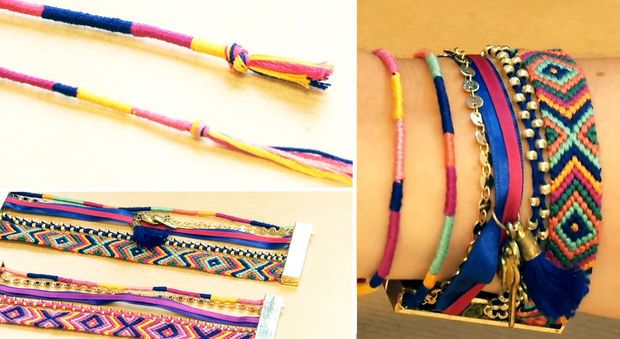 """Un bracelet brésilien, """"twist"""" tissé en rond - DIY : toutes nos idées de bracelets à réaliser soi-même - Prima.fr"""