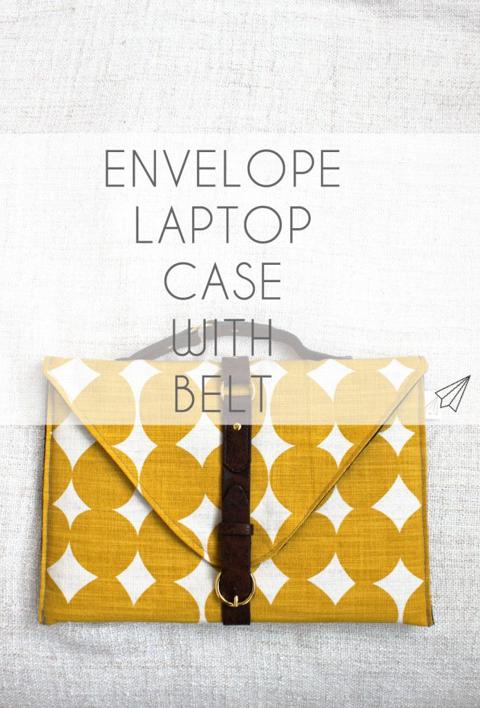 How to make - sew your own envelope laptop case with a faux leather belt. I show you how on » [es.kaa.] makes