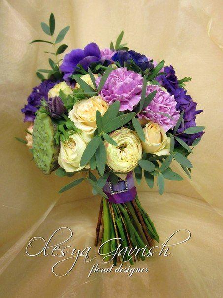 Олеся Гавриш - свадебная флористика и декор - Фиолетово-сиреневый букет невесты