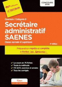 Marc Doucet et Françoise Epinette - Secrétaire administratif SAENES, concours / catégorie B - Préparation rapide et complète à toutes les épreuves. http://hip.univ-orleans.fr/ipac20/ipac.jsp?session=145769L71795W.995&menu=search&aspect=subtab48&npp=10&ipp=25&spp=20&profile=scd&ri=2&source=~!la_source&index=.GK&term=Secr%C3%A9taire+administratif+SAENES%2C+concours+%2F+cat%C3%A9gorie+B+-+Pr%C3%A9paration+rapide+et+compl%C3%A8te+%C3%A0+toutes+les+%C3%A9preuves&x=0&y=0&aspect=subtab48