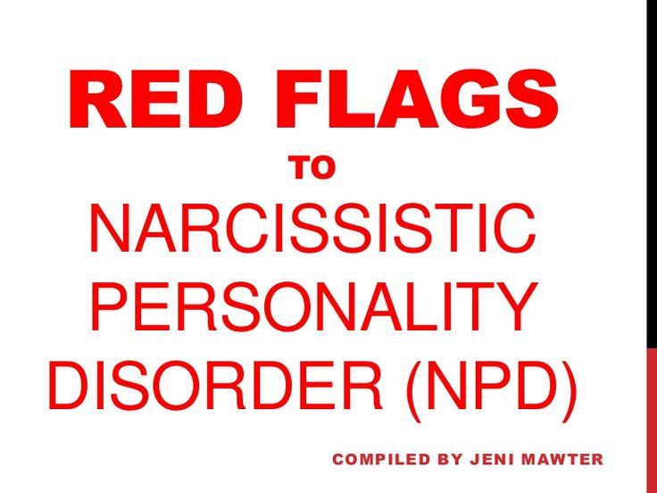 Dating a narcissist red flags