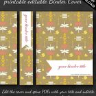 Cover your binders in this Garden Damask themed editable cover.  This kit contains three pdfs:  (1) Binder cover with editable title and subtitle a...