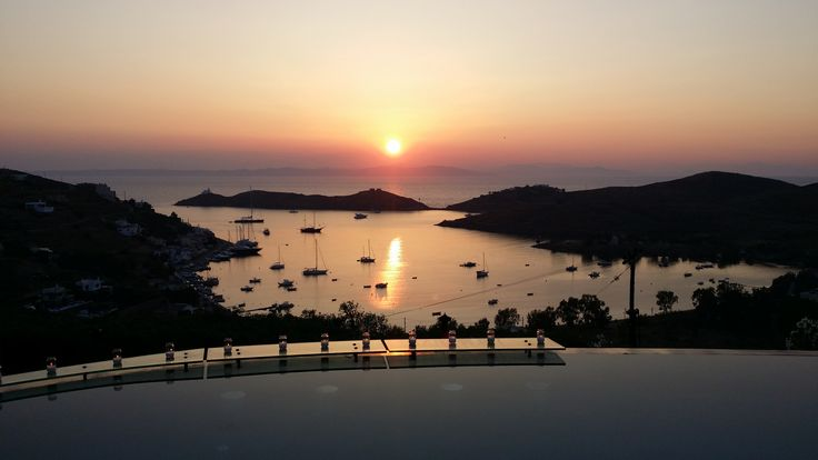 Poolside View From Aigis Suites Kea Island Greece