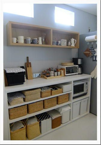 キッチンの収納 3 ~背面オープン収納棚~  うつりゆく日々...