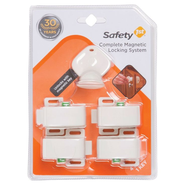 Safety 1st 5-Piece Complete Magnetic Locking System, White