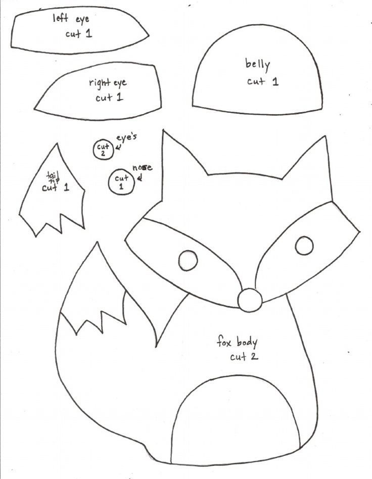Image result for how to make a felt pattern fox