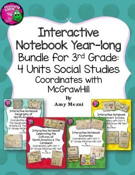 30 best social studies images on pinterest social science north america social studies interactive notebook year long bundle fandeluxe Image collections
